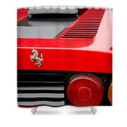 1979 Ferrari Taillight Emblem -0378c Shower Curtain