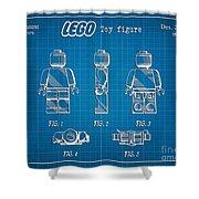 1979 Lego Minifigure Toy Patent Art 1 Shower Curtain