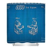 1979 Lego Minifigure Toy Patent Art 3 Shower Curtain