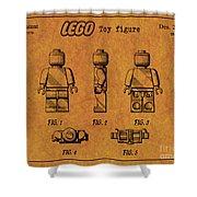 1979 Lego Minifigure Toy Patent Art 4 Shower Curtain