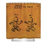 1979 Lego Minifigure Toy Patent Art 5 Shower Curtain