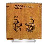 1979 Lego Minifigure Toy Patent Art 6 Shower Curtain
