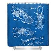 1980 Soccer Shoes Patent Artwork - Blueprint Shower Curtain