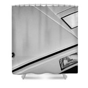 1982 Lamborghini Countach 5000s Hood Emblem -1518bw Shower Curtain
