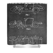1983 Corvette Patent Shower Curtain