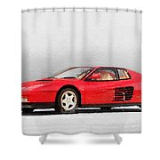 1983 Ferrari 512 Testarossa Shower Curtain