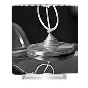 1984 Excalibur Roadster Hood Ornament 2 Shower Curtain