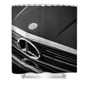 1984 Mercedes 500 Sl Convertible Bw Shower Curtain