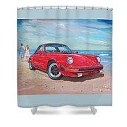 1985 Porsche 911 Targa Shower Curtain