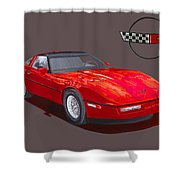 1986 Corvette Shower Curtain