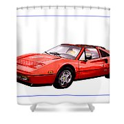 Ferrari 328 G T S 1986 Shower Curtain