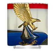 1986 Zimmer Golden Spirit Hood Ornament Shower Curtain by Jill Reger