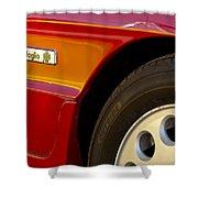 1988 Alfa Romeo Spider Quad Emblem Shower Curtain