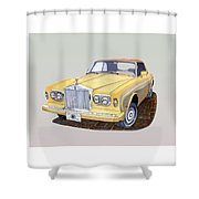 1988 Rolls  Royce's Corniche Convertible  Shower Curtain