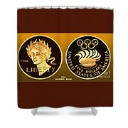 1988 Usa Olympic Gold Shower Curtain
