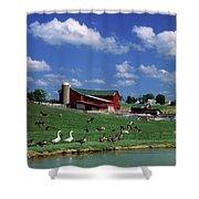 1990s Amish Family Farm Bunker Hill Shower Curtain