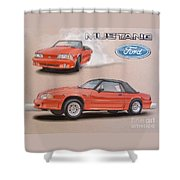1991 Ford Mustang Shower Curtain