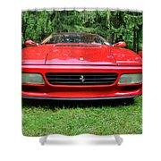 1993 Red Ferrari 512 Tr Shower Curtain