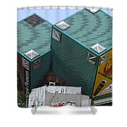 1996 Cube Houses On Eastern Avenue Shower Curtain