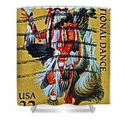 1996 Native American Stamp Shower Curtain