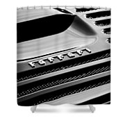 1997 Ferrari F 355 Spider Rear Emblem -153bw Shower Curtain