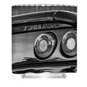 1997 Ferrari F 355 Spider Taillight Emblem -221bw Shower Curtain