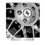 1997 Ferrari F 355 Spider Wheel Emblem -125bw Shower Curtain