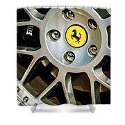 1997 Ferrari F 355 Spider Wheel Emblem -125c Shower Curtain