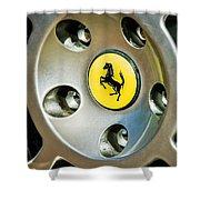 1997 Ferrari F 355 Spider Wheel Emblem -201c Shower Curtain