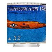 1997 First Supersonic Flight Stamp Shower Curtain