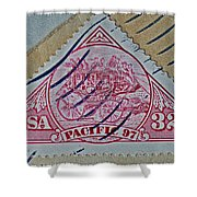 1997 Pacific Stagecoach Stamp Shower Curtain