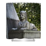 19th Century Granite Stone Sphinx Pyramid Color Poster Look Usa Shower Curtain