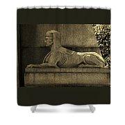 19th Century Granite Stone Sphinx Sepia Profile Poster Look Usa Shower Curtain