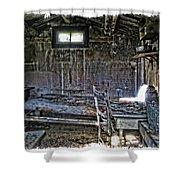 19th Century Miner's Cabin - Montana Shower Curtain