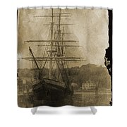 19th Century Schooner Shower Curtain