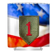 1st Infantry Division Shower Curtain