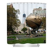 1w T C And The W T C Fountain Sphere Shower Curtain