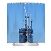 1wtc Antenna Erection Shower Curtain