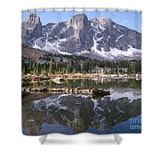 Cirque Of The Towers In Lonesome Lake 4 Shower Curtain