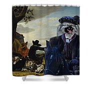 Keeshond Art Canvas Print Shower Curtain