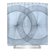Magnetism Shower Curtain