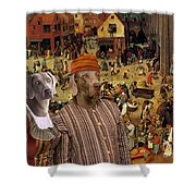 Weimaraner Art Canvas Print  Shower Curtain