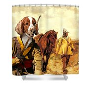 Welsh Springer Spaniel Art Canvas Print Shower Curtain