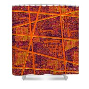0191 Abstract Thought Shower Curtain