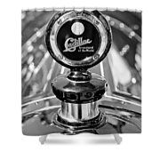 1911 Cadillac Roadster Hood Ornament Shower Curtain