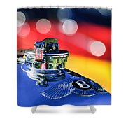 1931 Bentley 4.5 Liter Supercharged Le Mans Hood Emblem -1122c Shower Curtain