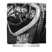 1931 Bentley 4.5 Liter Supercharged Le Mans Steering Wheel -1255bw Shower Curtain