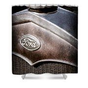 1931 Ford Grille Emblem Shower Curtain