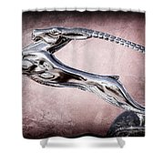 1932 Chrysler Ch Imperial Cabriolet Hood Ornament Shower Curtain