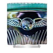 1933 Pontiac Emblem Shower Curtain